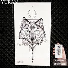 юран карандашный эскиз временные татуировки мужчины рука племя волк татуировки