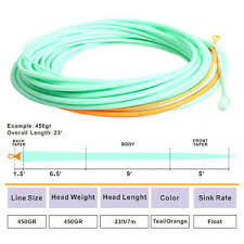 Details About 22 5 425gr Skagit Head Spey Switch Shooting Head Spey Line Fly Line
