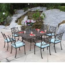 attractive square outdoor dining table for 8 room rosedown 8 person cast