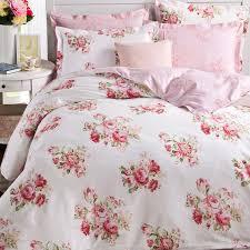 shabby pink rose duvet cover set