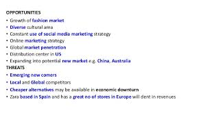 zara presentation yeni opportunities • growth