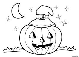 Coloriage Halloween Maternelle Facile Enfant Dessin