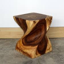 wood end tables. End Table Big Twist Natural Wood Furniture Grey|oak|walnut Finish Tables