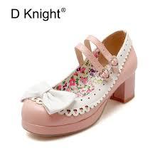 <b>Sweet</b> High Heels Lolita Shoes Japanese Princess <b>Bowtie</b> Single ...
