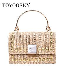 <b>TOYOOSKY</b> 2019 Brand <b>Designer</b> Hand woven Straw Bag <b>Women</b> ...