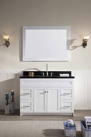 ariel hamlet 49 single sink vanity set with absolute black granite countertop in white atlas usa