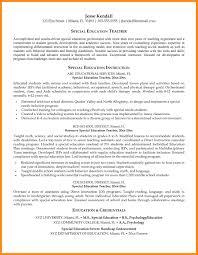 Ideas Of Sample Resume For Special Education Teacher Resume Cv