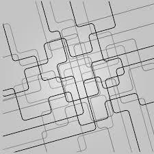 黑色線條科技背景黑色線條素材白底背景科技黑色線條科技背景素材白底背景