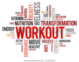 Fitness Health Workout Word Cloud Fitness Health Concept Stock Vector