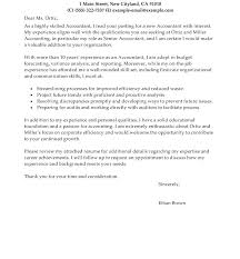Cover Letter Accounting Examples Bitacorita