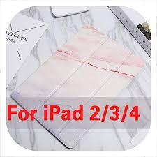 for iPad 5 air 1 air 2 Gradient Marble Flip PU Case ... - Amazon.com