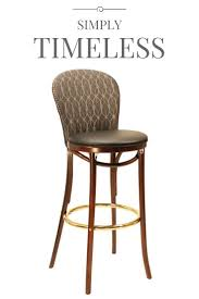 Traditional Fully Upholstered Bentwood Stool - Model 339 > M. Wholesale  Restaurant & Commercial Chairs, Table Bases and Furniture