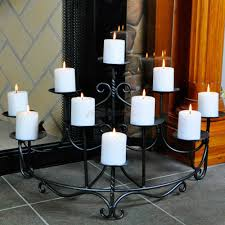 beautiful spandrels hearth fireplace candelabra with ten candles and tile floor for home accessories ideas