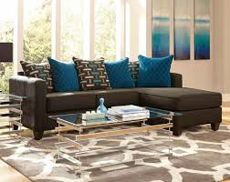 Cheap living room set with dark aqua brown sectional sofa Hupehome