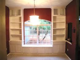 custom made custom built in bookcases window seat