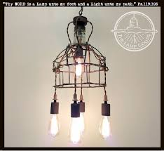 industrial cage lighting. INDUSTRIAL Cage Ceiling Light With VINTAGE Insulator Industrial Lighting E