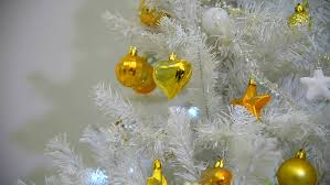 Decorating Christmas Tree With Balls Background With Balls And Cones On The Christmas White Tree Fir 89