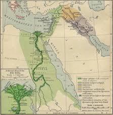 map of egypt syria and mesopotamia  bc