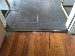 tile to transition stylish flooring how do i from a wood floor that has with regard 11