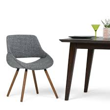 simpli home malden grey woven fabric bentwood dining chair set of 1