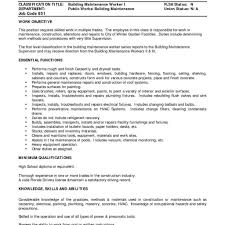 Maintenance Resume Cover Letter Sample Ofe Resume Fred Resumes Cover Letter For Worker Regarding 21