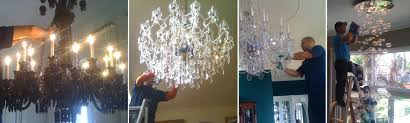 chandelier cleaning photo