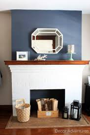 hale navy fireplace accent wall