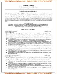 ... Professional Resume Writing 7 Sample Resume For Senior Real Estate  Management ...
