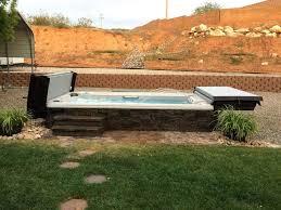 inground swim spa ates cost in ground uk installation