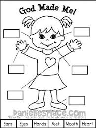 sundayschool printables god made me activity sheet for sunday school and childrens church