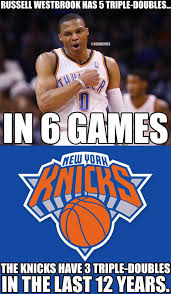 "NBA Memes on Twitter: ""Russell Westbrook vs. The New York Knicks ... via Relatably.com"