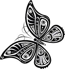 寄せ書きデザイン イラスト素材蝶の羽模様2