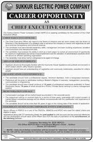 chief executive officer ceo required at sepc sukkur electric sepco dawn