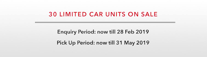 start from monthly 1500 existing car lease 30 limited car units on enquiry period now till 28 feb 2019