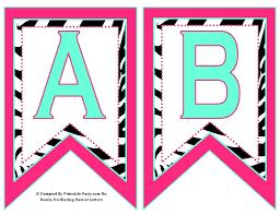 Printable Birthday Banner Letters Best Resume