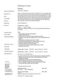 Babysitter Resume Sample Nanny Resume Sample Resume Babysitter Job