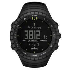 sports watches stop watches men women kids decathlon 49 electronics electronics core altimeter watch black suunto sports watches black