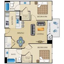 Hillside Floor Plans  Kalamazoo ApartmentsApartments Floor Plans 2 Bedrooms