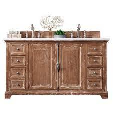 60 Providence Driftwood Double Sink Bathroom Vanity