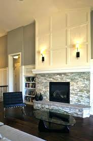 cover brick fireplace with stone reface brick fireplace cover with stacked stone covering brick fireplace with
