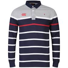 canterbury men s england lifestyle rugby long sleeve jersey navy white red image