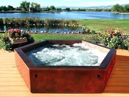 above ground spas in ground hexagonal above ground outdoor hot tub copper hot tub by diamond above ground