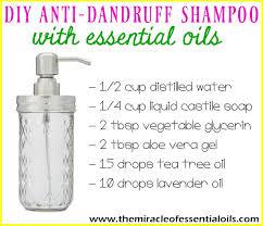 easy recipe diy dandruff shampoo with essential oils