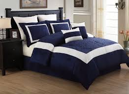 casual bedroom with white embroidered queen luke navy inside blue comforter sets decorations 19