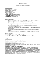 Karla Grimes RESUME AND PERSONAL HISTORY Personal Details Full Name: Karla  J. Grimes Maiden ...