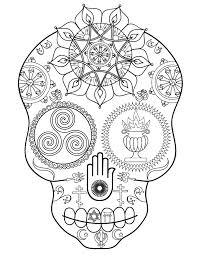 Small Picture Sugar Skull Coloring Book Launch and Free Printable Adult Coloring