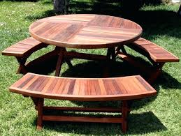 lifetime picnic table with umbrella hole picnic table round wood tables and benches com free plans lifetime picnic table with umbrella hole unique