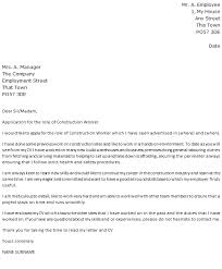 Sample Construction Cover Letters Construction Cover Letter Sample Guatemalago