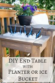 Self-Made Wooden End Table with Built-in Planter/Ice Bucket - 40 Brilliant  DIY Furniture Projects That Are Easy To Make - Page 2 of 4 - DIY & Crafts