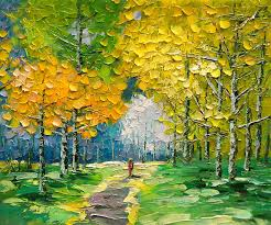 palette knife landscape oil painting painting by enxu zhou